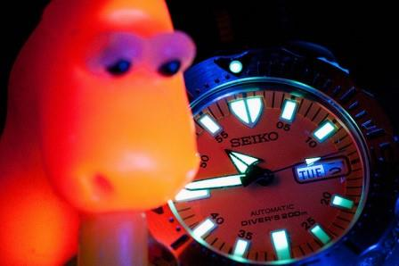 LumiBrite from a Seiko Orange Monster Gen.1